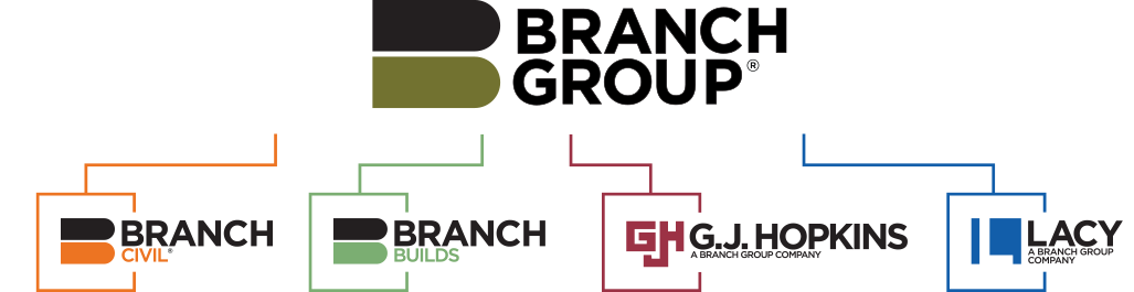 Find jobs at Branch Group, Branch Civil, Branch Builds, G.J. Hopkins, and L.A. Lacy